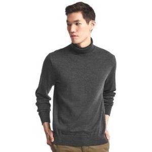GAP Men's Italian Merino Wool Grey Turtleneck sz L